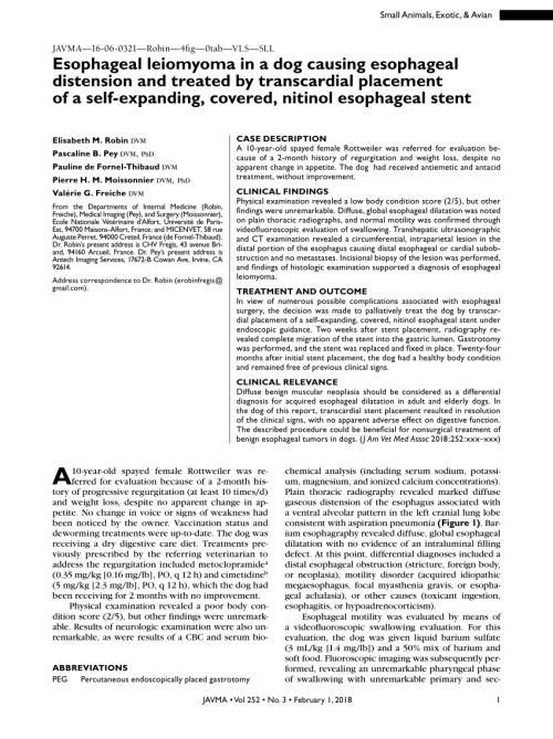 small resolution of esophageal achalasia and secondary megaesophagus in a dog pedro a boria request pdf
