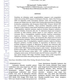 pdf kondisi dan jenis mangrove di kabupaten merauke provinsi papua [ 850 x 1203 Pixel ]