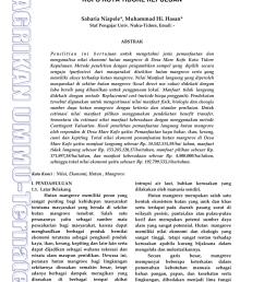 pdf analisis nilai ekonomi hutan mangrove di desa mare kofo kota tidore kepuluan [ 850 x 1203 Pixel ]