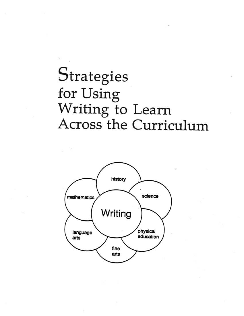 (PDF) Strategies for Using Writing to Learn Across the