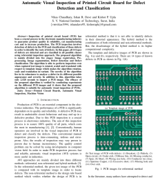 pdf automatic visual inspection of printed circuit board for defect detection and classification [ 850 x 1100 Pixel ]