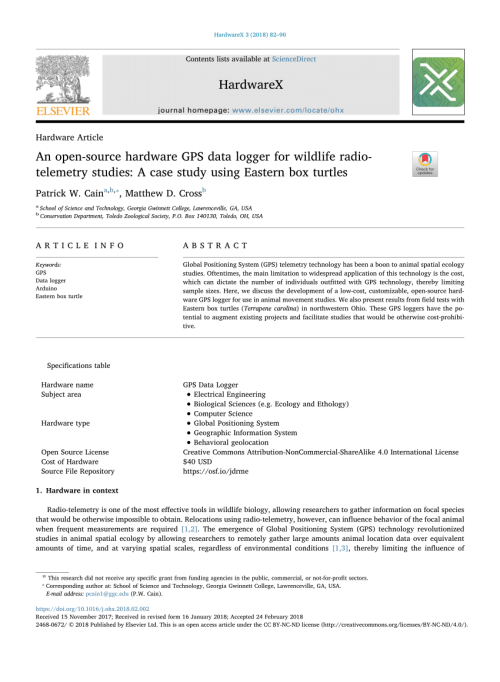 small resolution of  pdf an open source hardware gps data logger for wildlife radio telemetry studies a case study using eastern box turtles