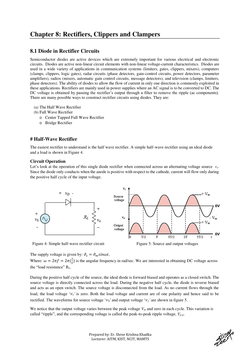 medium resolution of  pdf rectifiers clippers and clampers