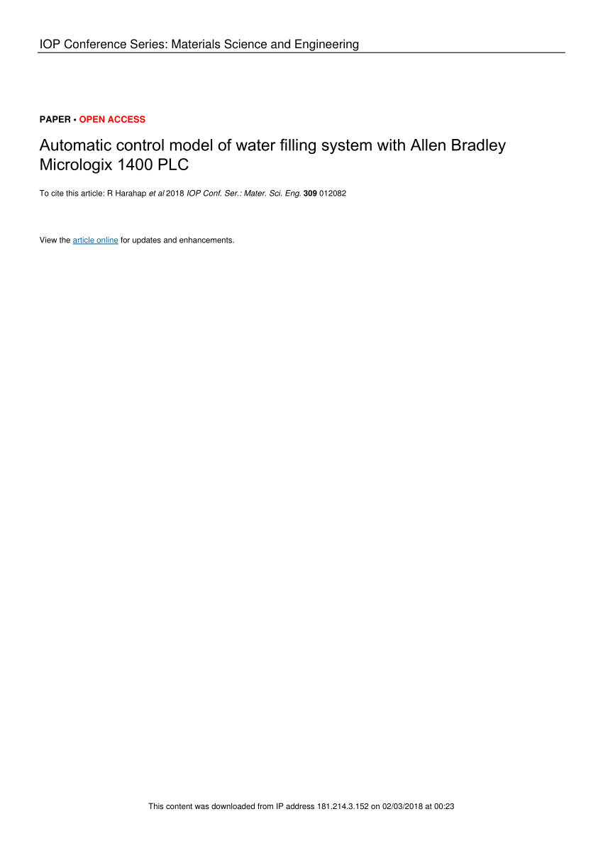 medium resolution of  pdf automatic control model of water filling system with allen bradley micrologix 1400 plc