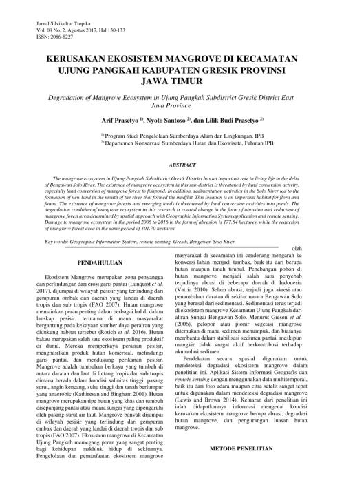 small resolution of  pdf kerusakan ekosistem mangrove di kecamatan ujung pangkah kabupaten gresik provinsi jawa timur degradation of mangrove ecosystem in ujung pangkah
