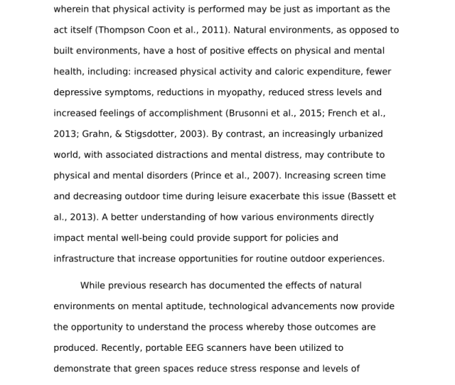 Pdf Mental Health Benefits Of Outdoor Adventures Results From Two Pilot Studies