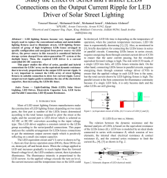 pdf study the effect of series and parallel leds connections on the output current ripple for led driver of solar street lighting [ 850 x 1100 Pixel ]