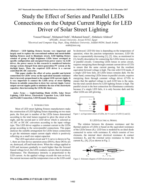 small resolution of  pdf study the effect of series and parallel leds connections on the output current ripple for led driver of solar street lighting
