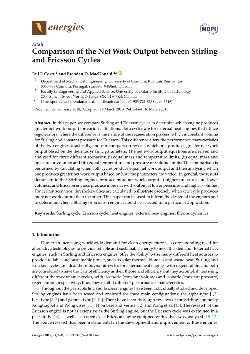 medium resolution of  pdf comparison of the net work output between stirling and ericsson cycles