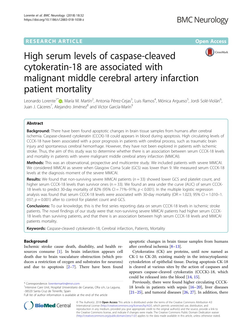 nice bastia sofascore modular sofas australia pdf high serum levels of caspase cleaved cytokeratin 18 are associated with malignant middle cerebral artery infarction patient mortality