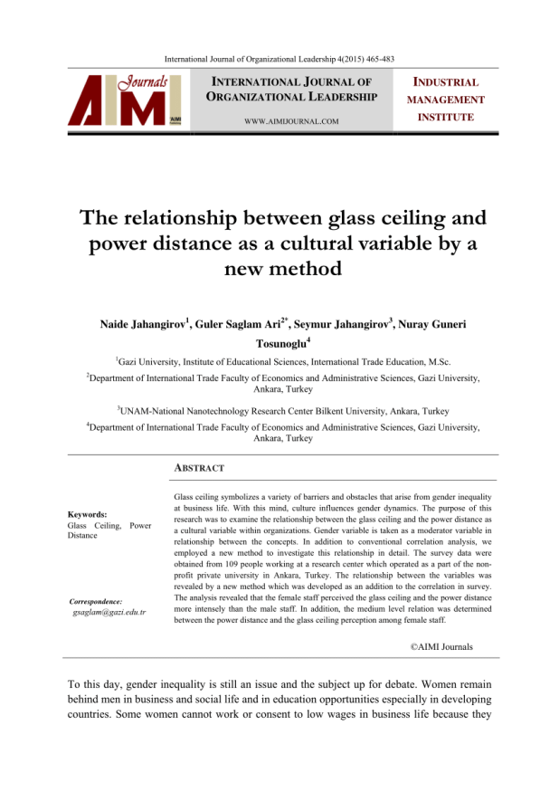 What Does The Term Glass Ceiling Mean In Reference To