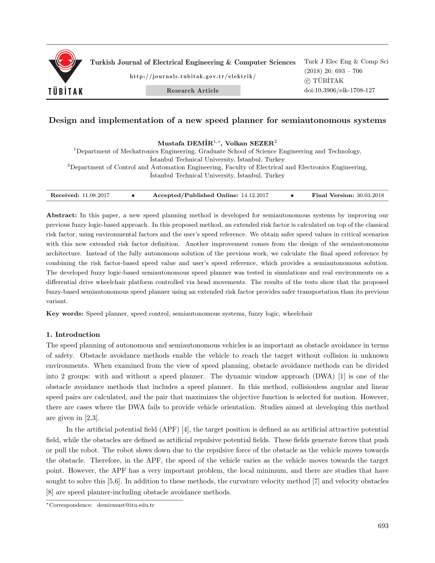 medium resolution of  pdf design and implementation of a new speed planner for semiautonomous systems