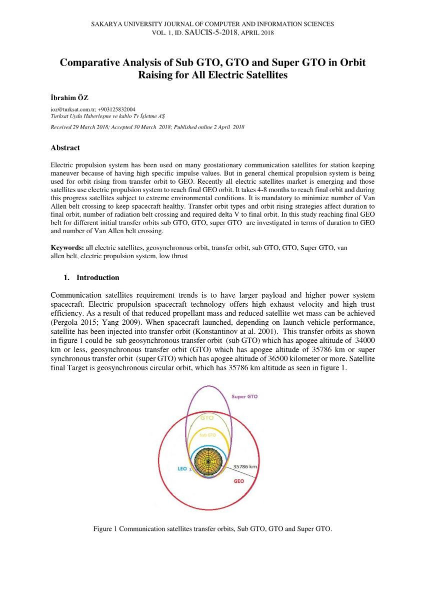 hight resolution of  pdf comparative analysis of sub gto gto and super gto in orbit raising for all electric satellites