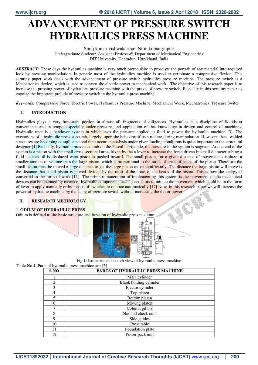 hight resolution of  pdf design and development of hydraulic press with die