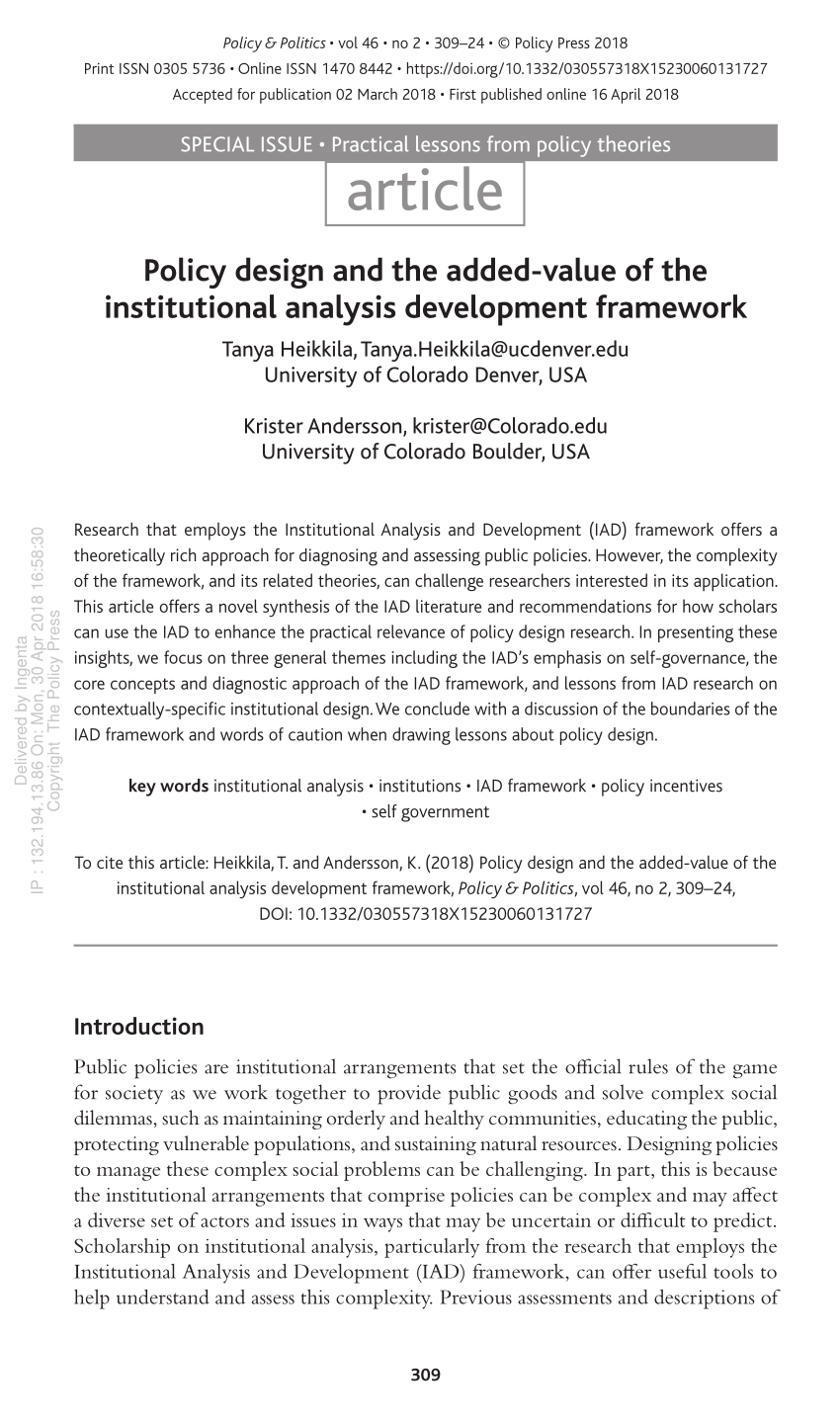 hight resolution of the institutional analysis and development iad framework download scientific diagram