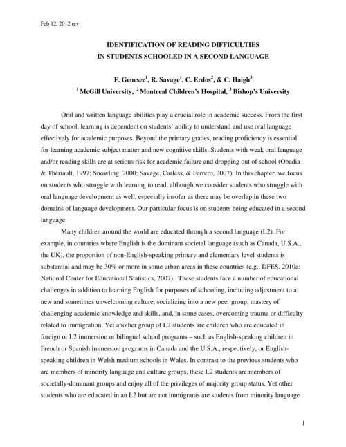 small resolution of PDF) 2. Identification of Reading Difficulties in Students Schooled in a  Second Language