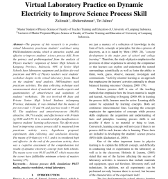 PDF) The Effectiveness of Students' Worksheet of Virtual Laboratory  Practice on Dynamic Electricity to Improve Science Process Skill [ 1203 x 850 Pixel ]