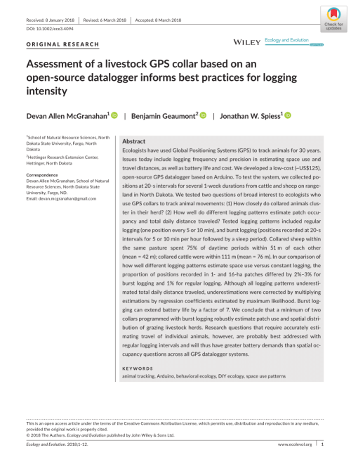 small resolution of  pdf assessment of a livestock gps collar based on an open source datalogger informs best practices for logging intensity