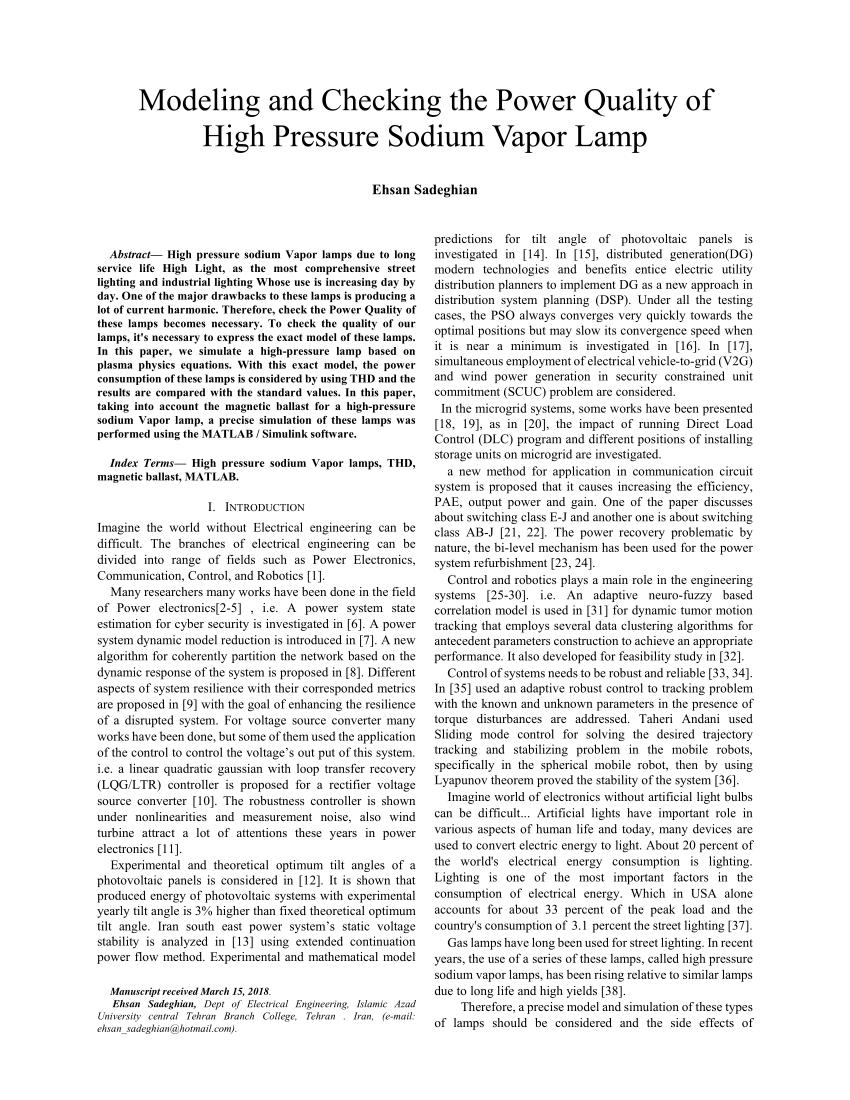hight resolution of simulink block diagram of the electrical hps lamp model 11 download scientific diagram