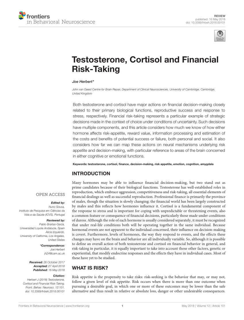 pdf the relation of cortisol and sex hormone levels to results of psychological performance iq and memory tests in military men and women
