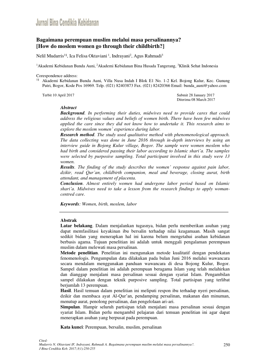 Kode Pos Bojong Kulur Gunung Putri Bogor : bojong, kulur, gunung, putri, bogor, Bagaimana, Perempuan, Muslim, Melalui, Persalinannya?, Moslem, Women, Through, Their, Childbirth?]