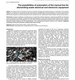 pdf the possibilities of automation of the manual line for dismantling waste electrical and electronic equipment [ 850 x 1203 Pixel ]