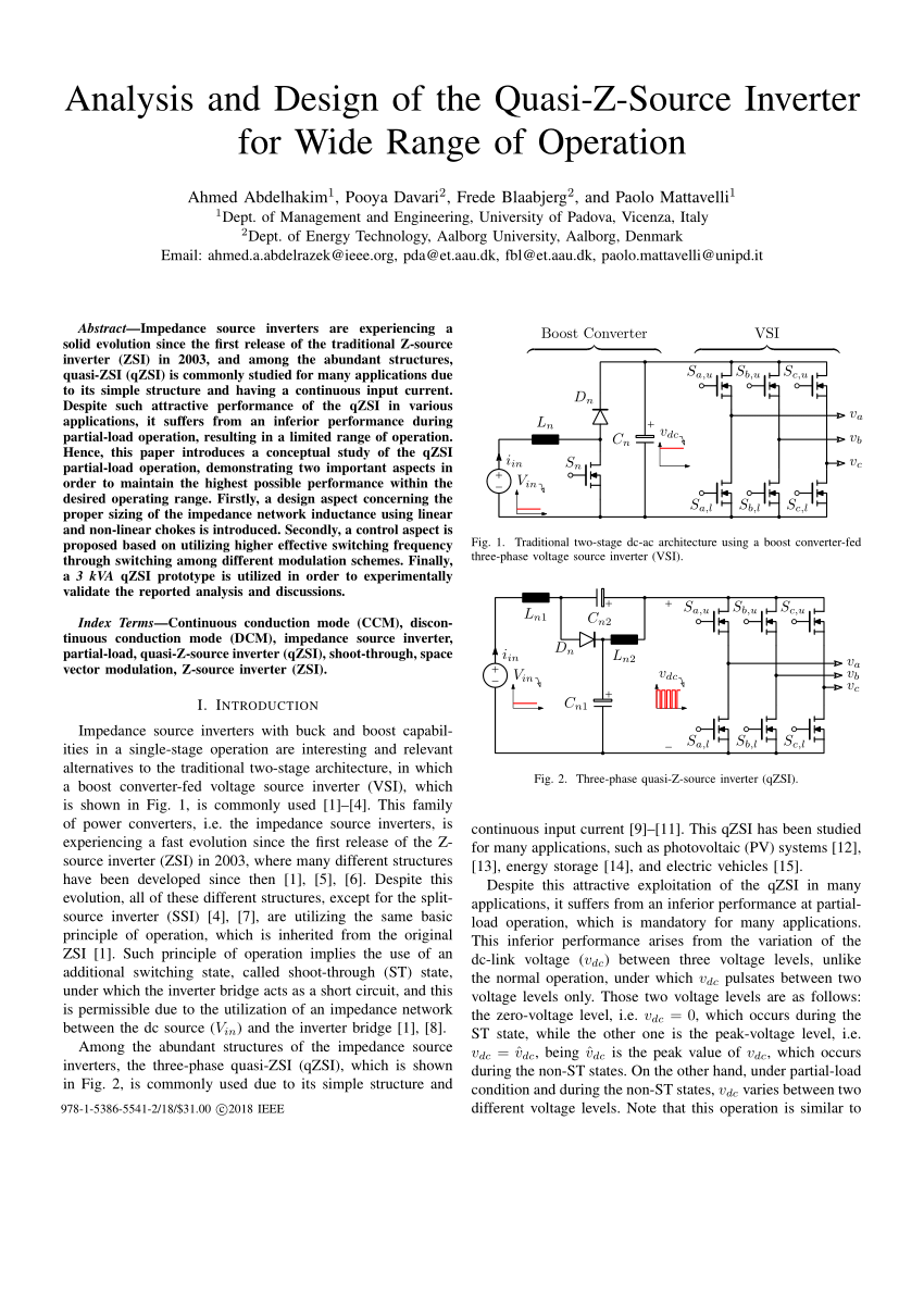medium resolution of  pdf analysis and design of the quasi z source inverter for wide range of operation