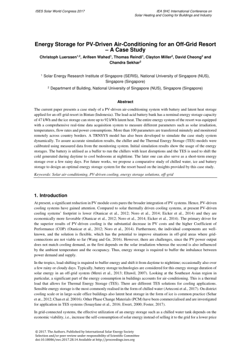 small resolution of  pdf energy storage for pv driven air conditioning for an off grid resort a case study