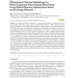 pdf mathematical thermal modelling of a direct expansion solar assisted heat pump using multi objective optimization based on the energy demand [ 850 x 1202 Pixel ]