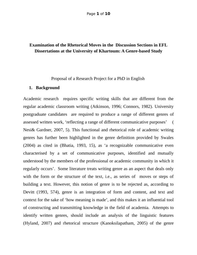 PDF) My PHD Proposal