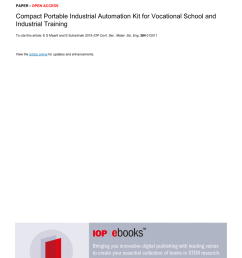 pdf development of a programmable logic controller training platform for the industrial control of processes [ 850 x 1203 Pixel ]