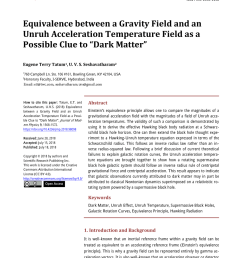 pdf clues to the fundamental nature of gravity dark energy and dark matter [ 850 x 1153 Pixel ]