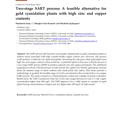 pdf two stage sart process a feasible alternative for gold cyanidation plants with high zinc and copper contents [ 850 x 1202 Pixel ]