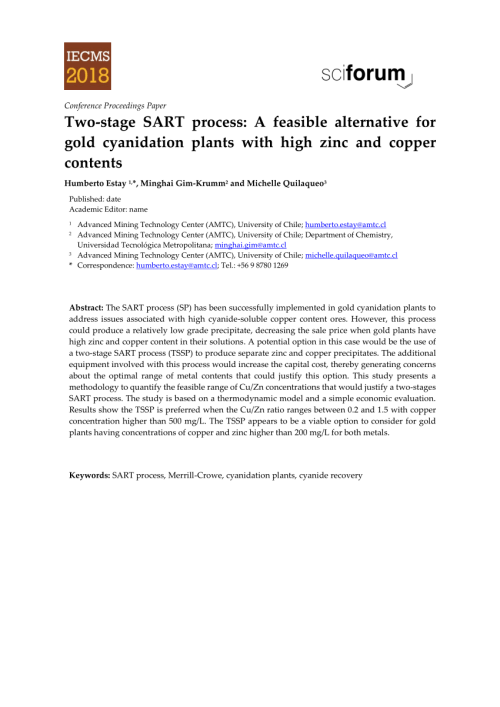 small resolution of  pdf two stage sart process a feasible alternative for gold cyanidation plants with high zinc and copper contents