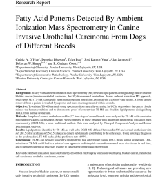 pdf ambient ionization mass spectrometry for point of care diagnostics and other clinical measurements [ 850 x 1160 Pixel ]