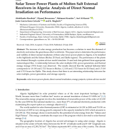 pdf solar tower power plants of molten salt external receivers in algeria analysis [ 850 x 1202 Pixel ]
