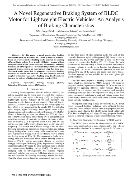 small resolution of an efficient regenerative braking system based on battery supercapacitor for electric hybrid and plug in hybrid electric vehicles with bldc motor