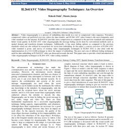 pdf h 264 avc video steganography techniques an overview [ 850 x 1100 Pixel ]