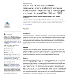 pdf association between health service use and diarrhoea management approach among caregivers of under five children in nepal [ 850 x 1100 Pixel ]