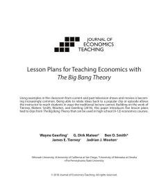 PDF) Lesson Plans for Teaching Economics with The Big Bang Theory [ 1100 x 850 Pixel ]