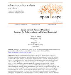 PDF) Seven school-related disasters: Lessons for policymakers and school  personnel [ 1100 x 850 Pixel ]