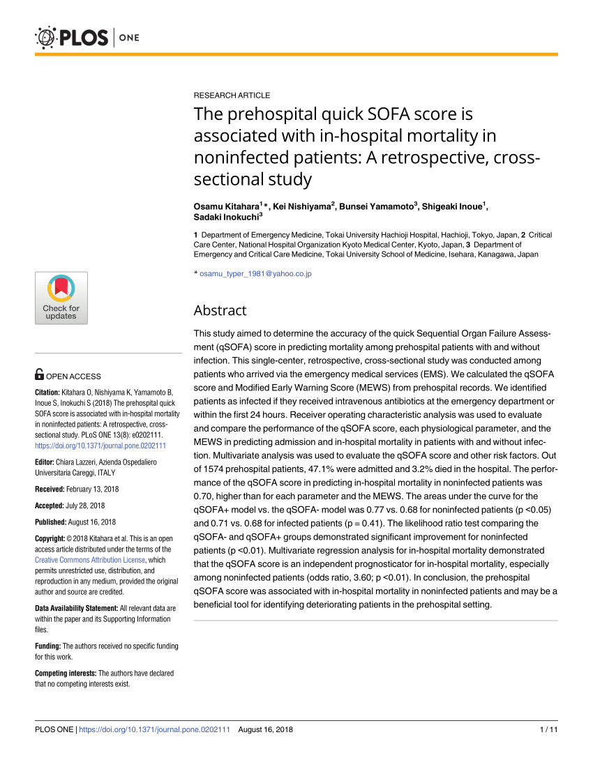sofa score calculator excel sofas nyc midtown pdf low sensitivity of qsofa sirs criteria and sepsis definition to identify infected patients at risk complication in the prehospital setting