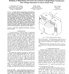 pdf modeling of magnetizing and core loss currents in single phase transformers with voltage harmonics for use in power flow [ 850 x 1078 Pixel ]