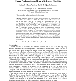 pdf mhaisen f t ali a h khamees n r 2018b marine fish parasitology of iraq a review and checklists biol appl environ res 2 2 231 297  [ 850 x 1202 Pixel ]
