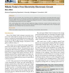 pdf nikola tesla s free electricity electronic circuit [ 850 x 1202 Pixel ]