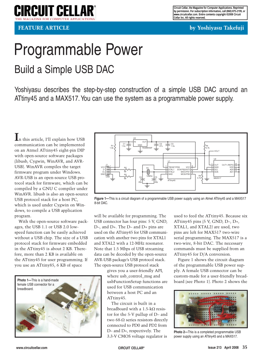 medium resolution of  pdf programmable power build a simple usb dac