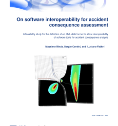 pdf on software interoperability for accident consequence assessment [ 850 x 1203 Pixel ]