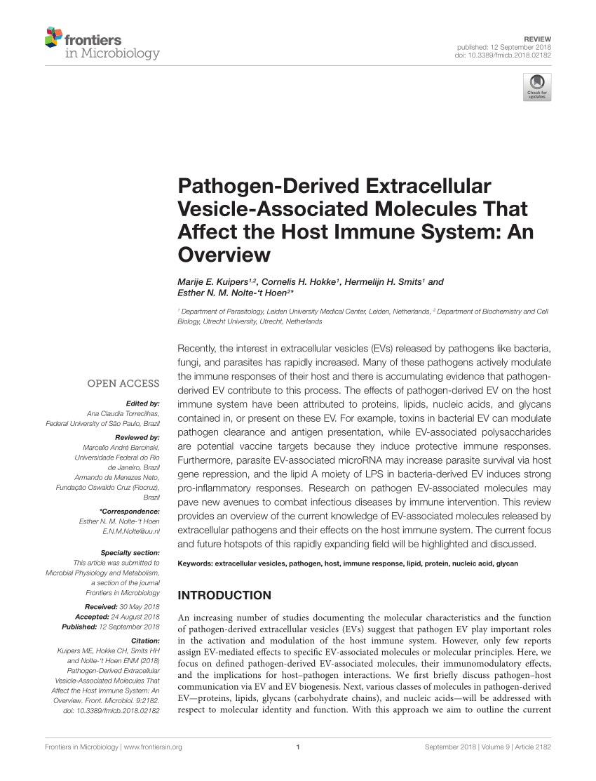 medium resolution of  pdf evpedia an integrated database of high throughput data for systemic analyses of extracellular vesicles