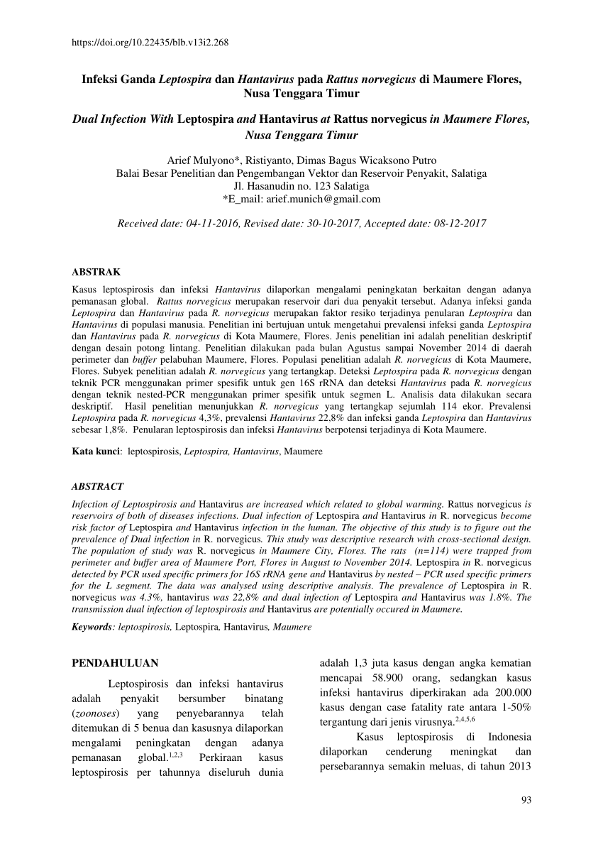 Distribution of the North American hantavirus primary reservoirs ...