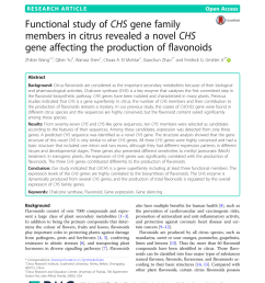 pdf functional study of chs gene family members in citrus revealed a novel chs gene affecting the production of flavonoids [ 850 x 1129 Pixel ]